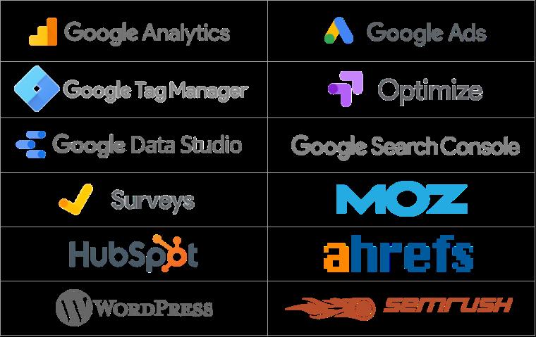 digital marketing software logos