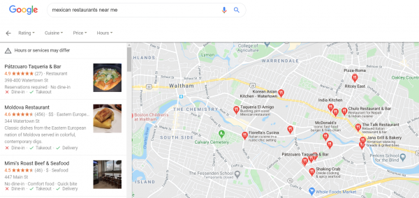 local seo google search near me